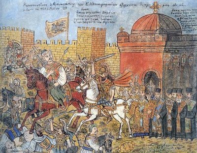 Depiction of the Fall of Constantinople